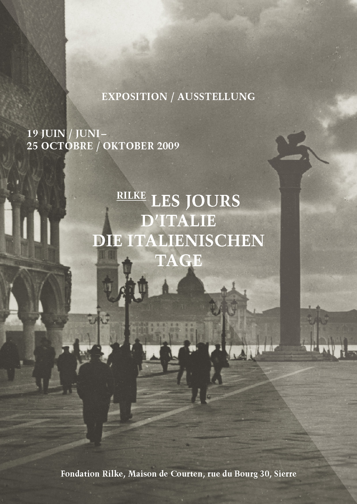 Flyer der Ausstellung Die italienischen Tage, 2009