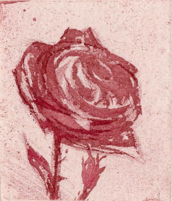 Radierung von Gérard de Palézieux, Les Roses, Gonin 1989