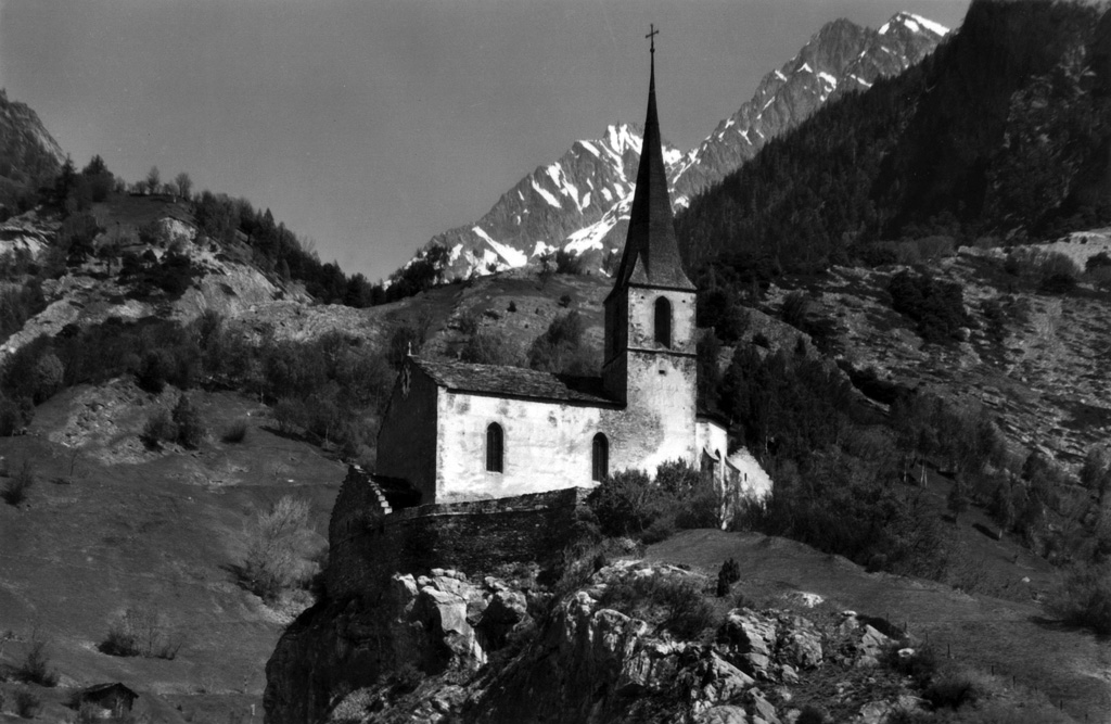 Burgkirche in Raron, 1970er Jahre (Foto: Gérard Salamin)