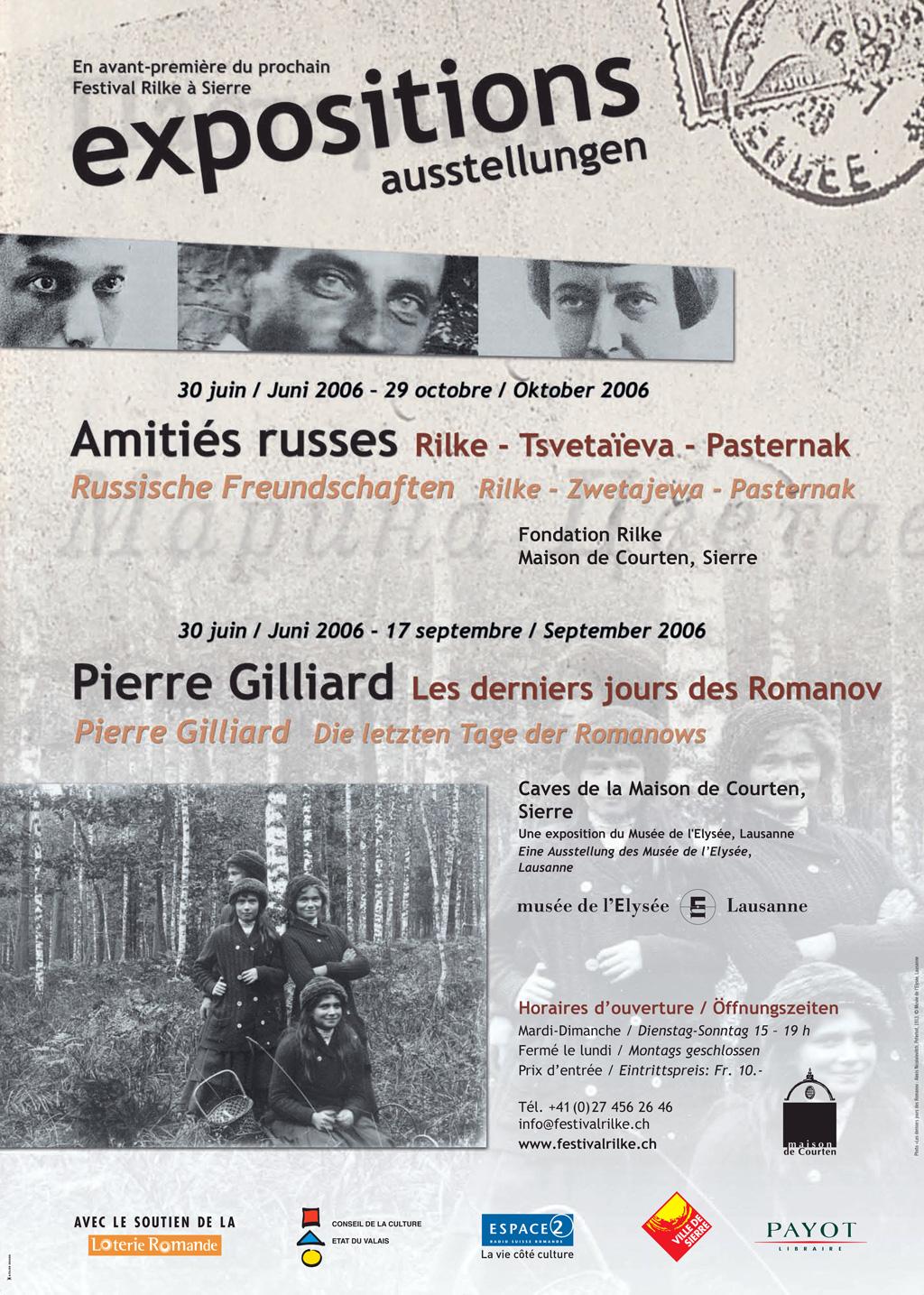 Plakat des Rilkefestivals 2006