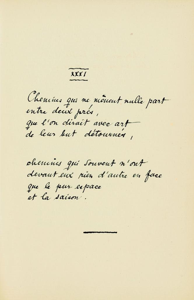 Die Quatrains Valaisans, XXXI, 1920