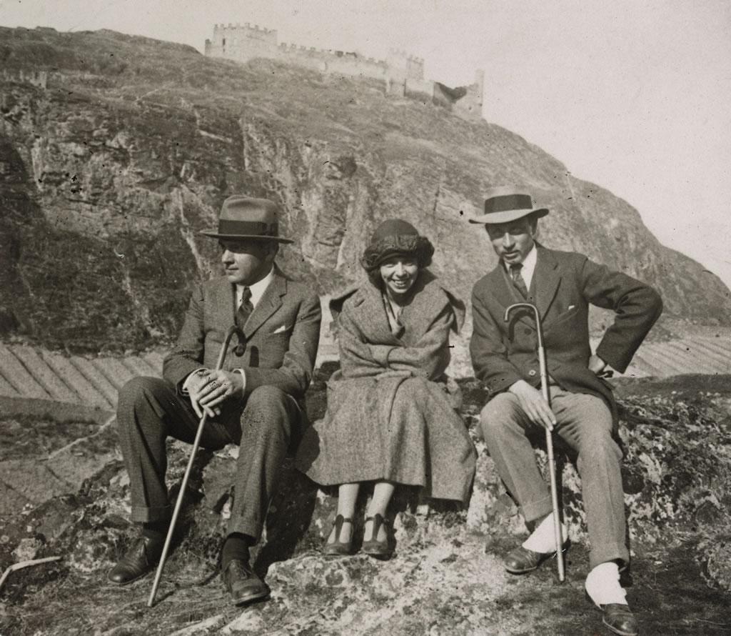 Rilke, Alma Moodie und Werner Reinhart in Sion (Sitten) im Jahre 1923 (Schweizerisches Literaturarchiv, SLA, Bern)