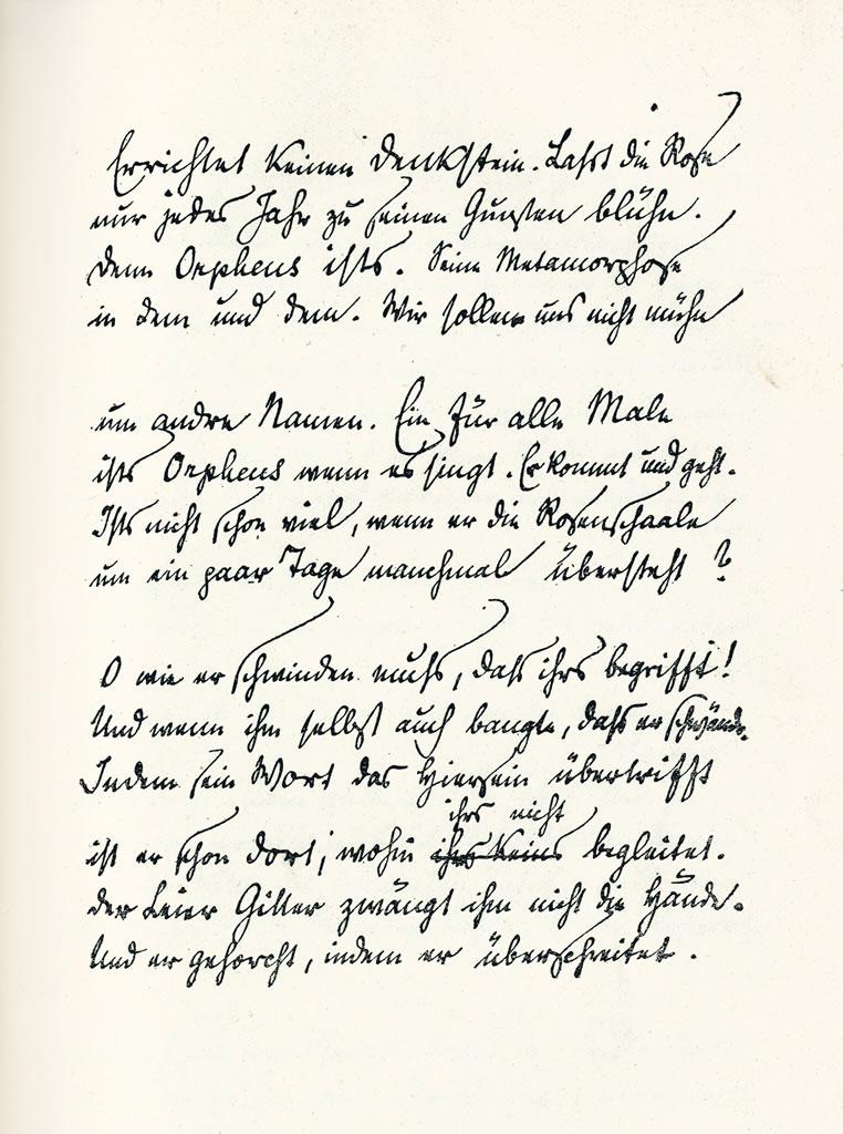 5ème Sonnet à Orphée, 1re partie des Sonnets