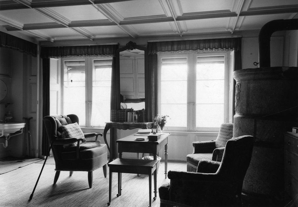 Rudolf Kassners Zimmer im Hotel Bellevue
