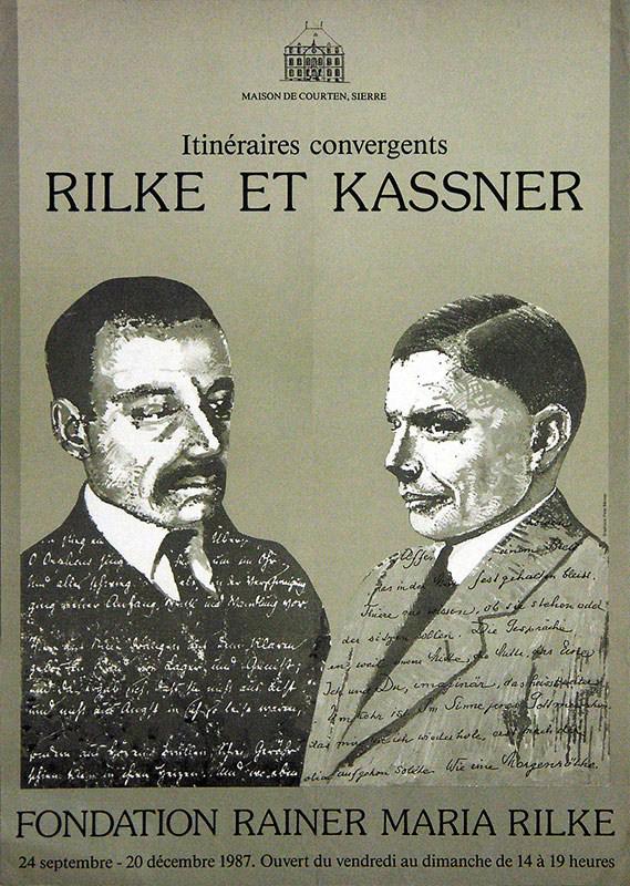 Affiche de l'exposition: Itinéraires convergents / Rilke et Kassner, 1987