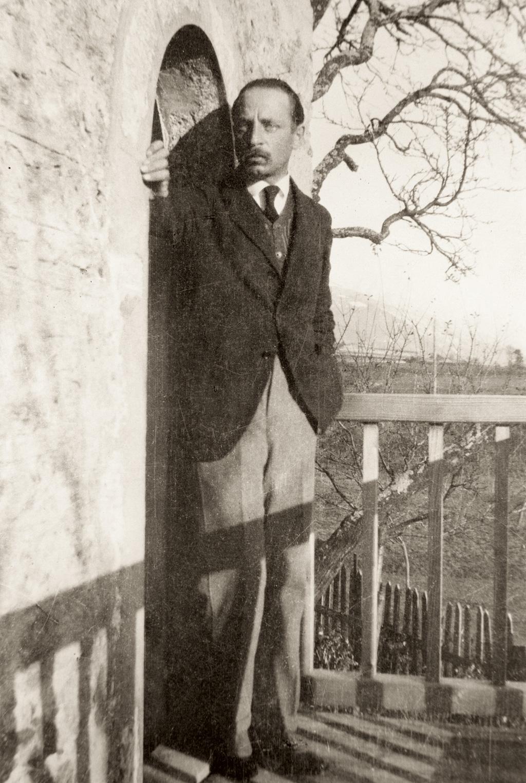 Rilke sur le Balcon de Muzot, 1923 (Archives littéraires suisses, ALS, Berne)